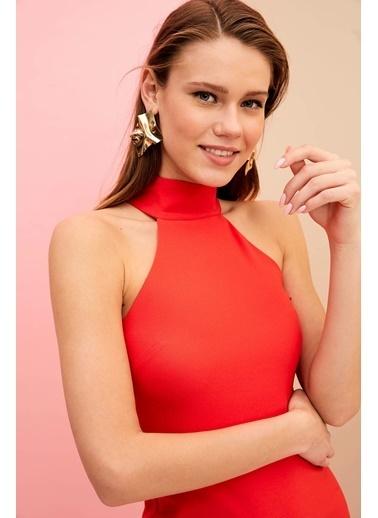 DeFacto Gece Elbisesi Kırmızı